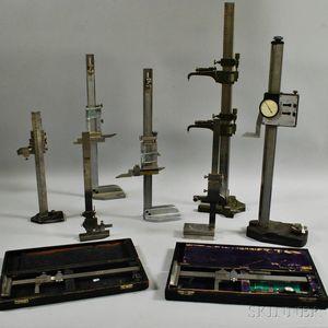 Nine Assorted Height Gauges