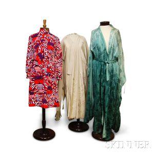 Lanvin Shirtdress and Two Silk Kimonos