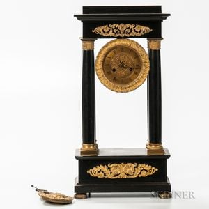 Belgian Slate Portico Clock