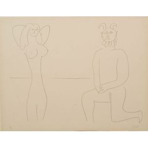 After Pablo Picasso (Spanish, 1881-1973)    Image from MES DESSINS D