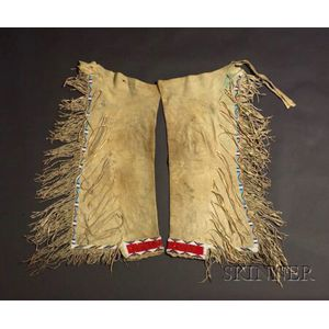 Southern Plains Beaded Hide Young Man