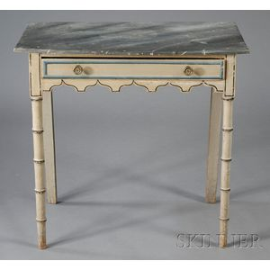 Paint-decorated One-Drawer Dressing Table