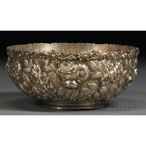 Baltimore Silversmiths Mfg. Co. Sterling Repousse Fruit Bowl