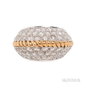 18kt Gold and Diamond Bombe Ring, Kutchinsky
