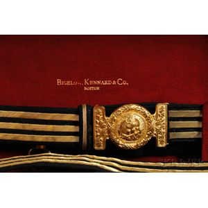 Cased Model 1852 Presentation Sword by Bigelow Kennard & Co. and Other Objects   Relating to Rear Admiral Frank Wildes, U.S.N.