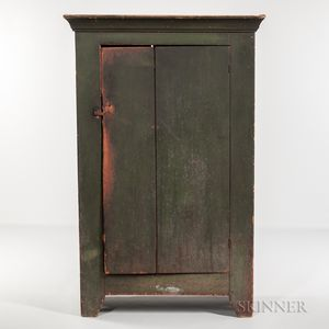 Green-painted Cupboard