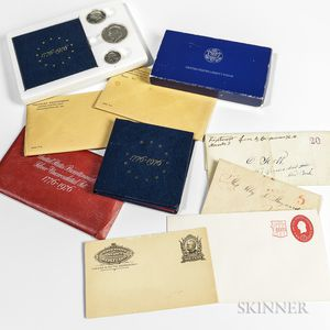 Group of Coins and Stamps