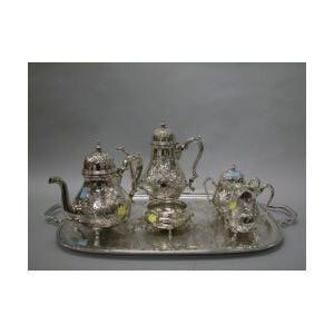 Six-piece International Silver Plated Georgian Court Tea and Coffee Service