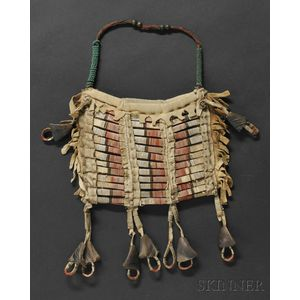 Central Plains Quilled Hide Pouch