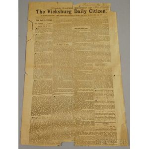 Later Reproduction of the Wall-Paper Edition of the Vicksburg Daily Citizen