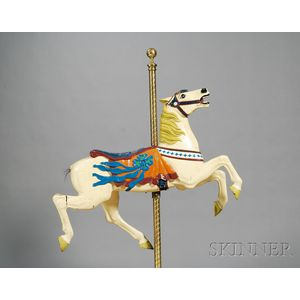 Carved and Painted Jumper Carousel Horse