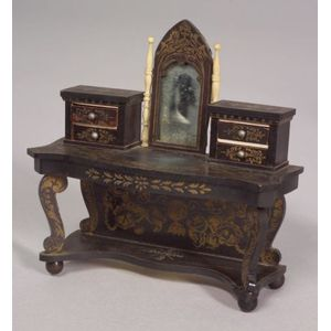 Biedermeier Gothic Mirrored Doll House Vanity