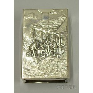 Danish Repousse and Hammered Silver Cigarette Sleeve
