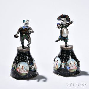 Two Austrian Silver and Enamel Figures