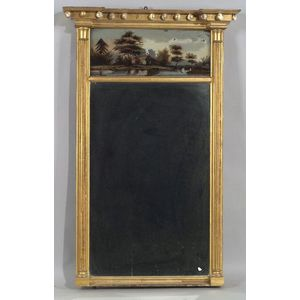 Federal Giltwood Tabernacle Mirror