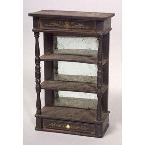 Biedermeier Tall Display Doll House Cabinet