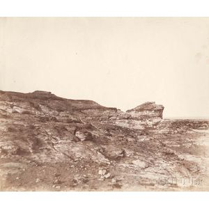 John Beasley Greene (American, 1832-1856)      View of Terrain near Gebel Abousir, Second Cataract, Egypt