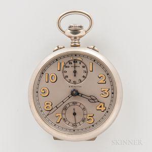 Unusual Zenith Open-face Alarm Watch