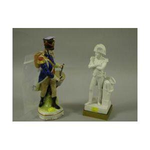 Two Porcelain Militaria Figures,