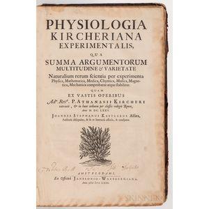 Kircher, Athanasius (1602-1680) Physiologia Kircheriana Experimentalis.