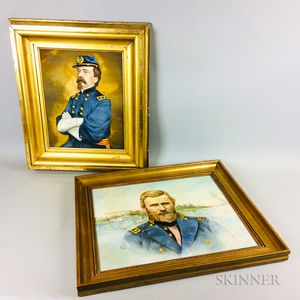 American School, 20th Century    Portraits of General Daniel Sickles and General Ulysses S. Grant