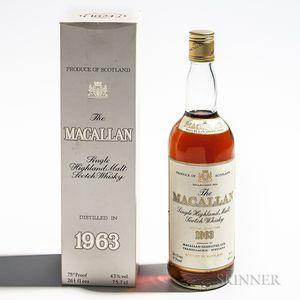 Macallan 1963, 1 750ml bottle (oc)