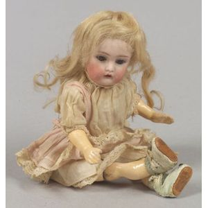 Small Kestner 155 Bisque Head Doll