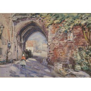 Alexander Charles Robinson (American, 1867-1952)      Village Gate