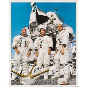 Apollo 12, Prime Crew, Autopen Signed Lithograph.