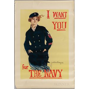 """I Want You for The Navy"" Poster"