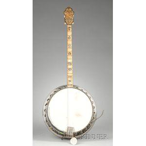American Tenor Banjo, Bacon & Day, Groton, c. 1930, Style 1 Sultana Silver Bell
