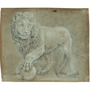 Italian School, 17th Century      Two Works: Lions in Profile, One After the Medici Lions
