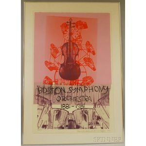 Robert Rauschenberg (American, 1925-2008)      Boston Symphony Orchestra 1881-1981  /Exhibition Poster