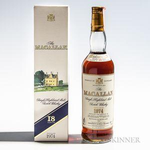 Macallan 18 Years Old 1974, 1 70cl bottle (oc)