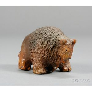 Redware Buffalo Figure