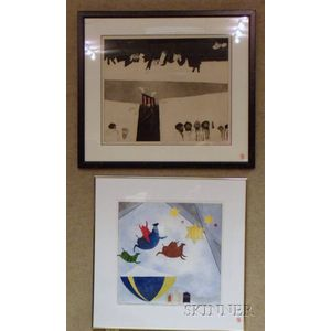 Two Framed Works