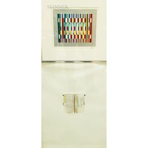 Two Contemporary Works:    Yaacov Agam (Israeli, b. 1928), Untitled Geometric Pattern