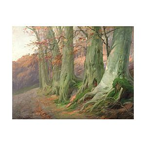 Privat Livemont (Belgian, 1852-1936)  The Forest's Edge