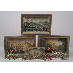Four Boxed Lead Figure Dioramas