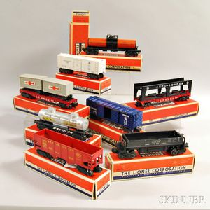 Eight Boxed Lionel Trains