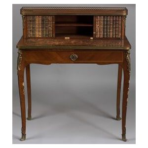 Louis XV/XVI Style Inlaid Tulipwood Bonheur du Jour