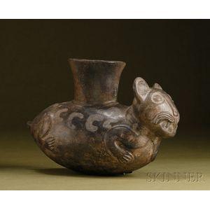 Pre-Columbian Pottery Effigy Vessel