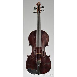 French Violin, c. 1900, Probably Jerome Thibouville-Lamy
