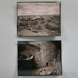 Linda Connor (American, b. 1944)      Two Images of Southwestern Ruins:  Ruins El Morro, New Mexico