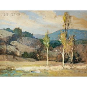 William Jurian Kaula (American, 1871-1953)      Two Mountain Landscapes