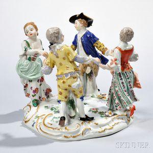Meissen Porcelain Dancing Figural Group