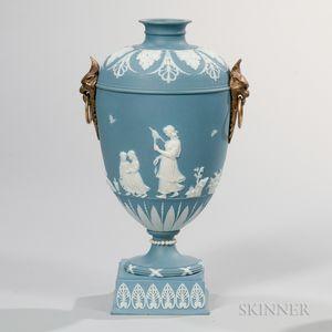 Wedgwood Solid Blue Jasper Vase
