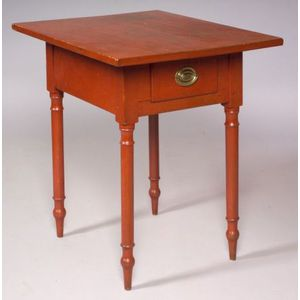 Red Painted Cherry Wood Stand