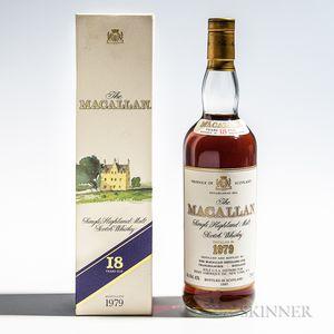 Macallan 18 Years Old 1979, 1 750ml bottle (oc)