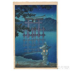 Kawase Hasui (1883-1957), Starlit Night at Miyajima